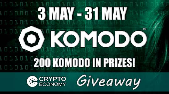 The Crypto of the Month: Komodo - Crypto Economy Giveaway - 200 KMD in prizes!
